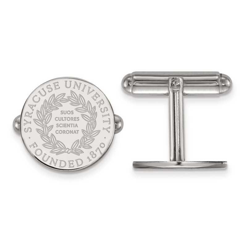 SS041SYU: SS LogoArt Syracuse University Crest Cuff Link