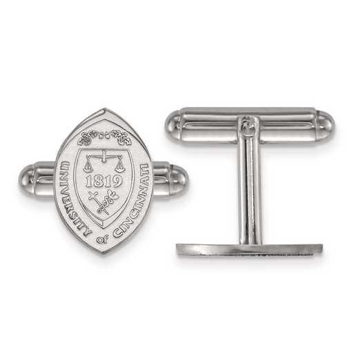 SS043UC: SS LogoArt University of Cincinnati Crest Cuff Link
