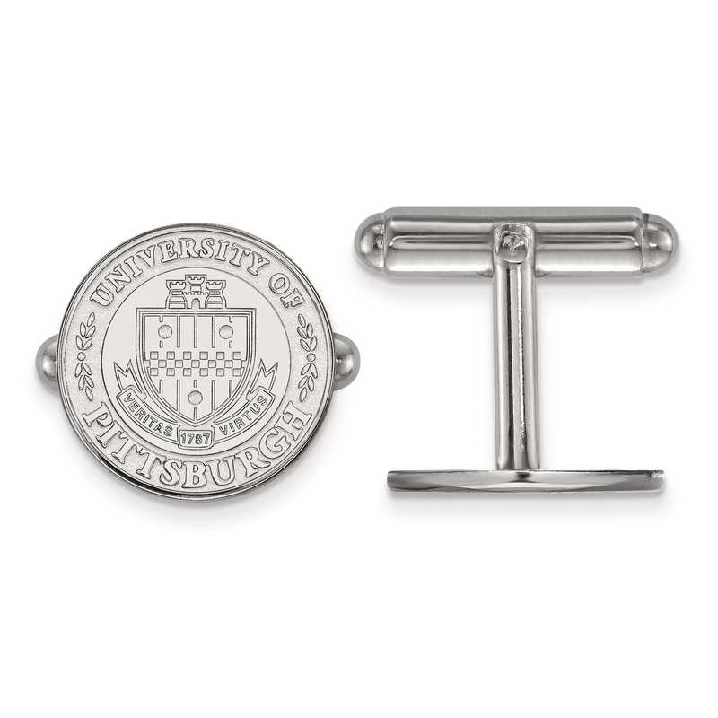 SS048UPI: SS LogoArt University of Pittsburgh Crest Cuff Link