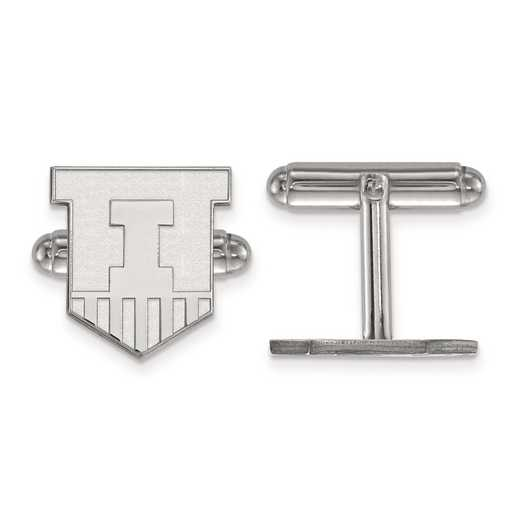 SS052UIL: SS LogoArt University of Illinois Cuff Link
