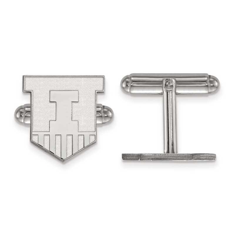 SS052UIL: SS LogoArt University of Illinois Cuff Link