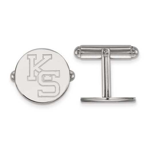 SS053KSU: SS LogoArt Kansas State University Cuff Link