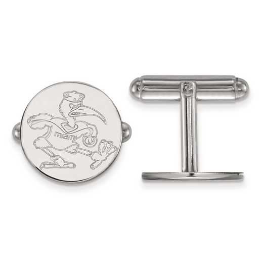 SS053UMF: SS LogoArt University of Miami Cuff Link