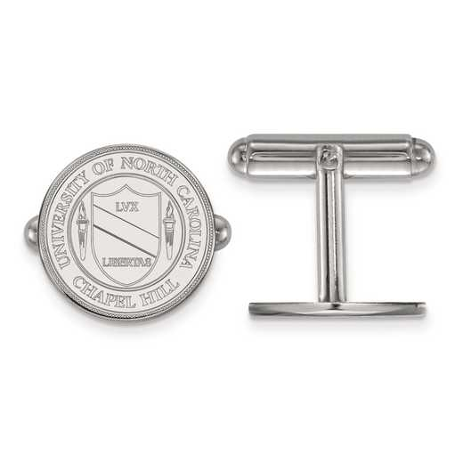 SS060UNC: SS LogoArt University of North Carolina Crest Cuff Link