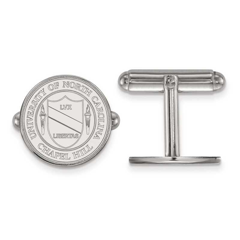 SS060UNC: SS LogoArt University of North Carolina Crest Cuff Link