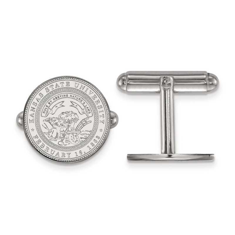 SS063KSU: SS LogoArt Kansas State University Crest Cuff Link