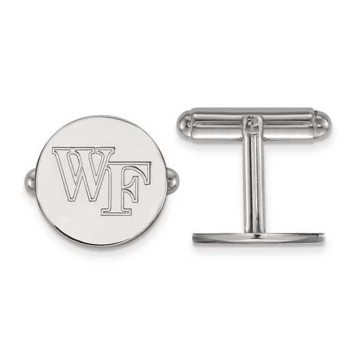 SS063WFU: SS LogoArt Wake Forest University Cuff Links