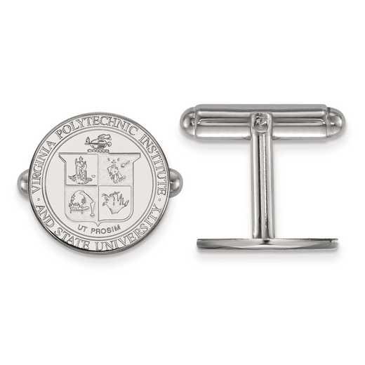 SS065VTE: SS LogoArt Virginia Tech Crest Cuff Link
