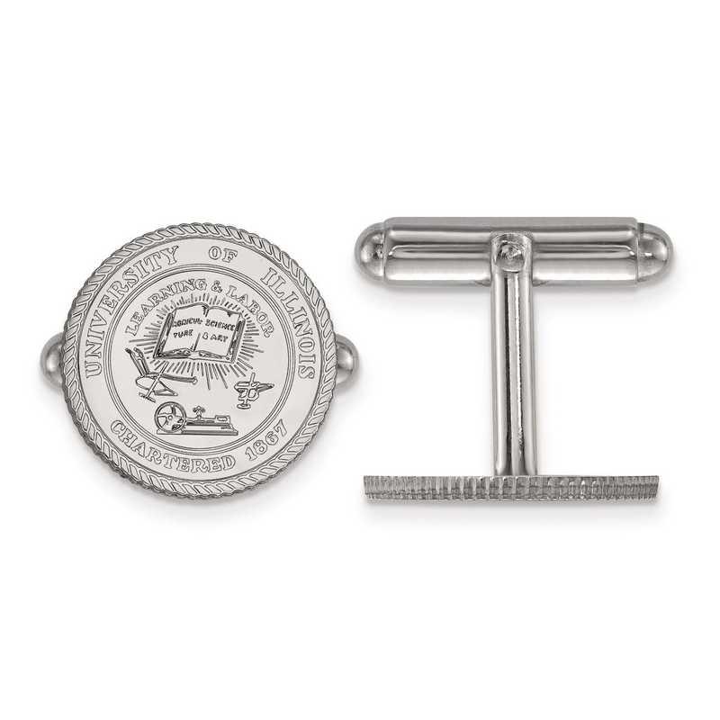 SS067UIL: SS LogoArt University of Illinois Crest Cuff Link