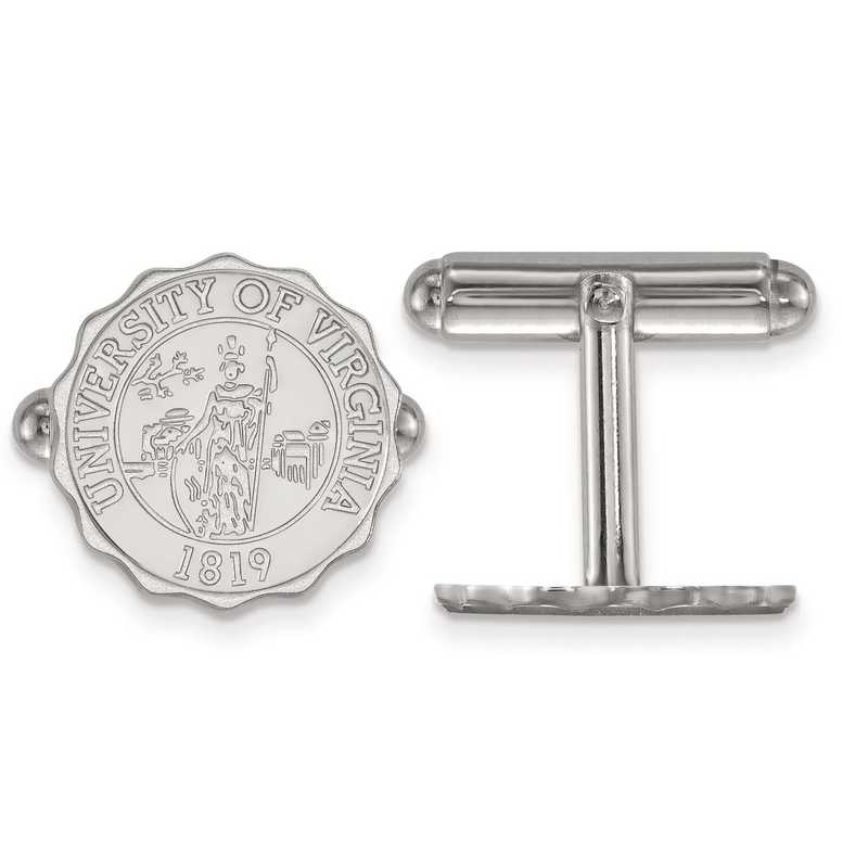 SS069UVA: SS LogoArt University of Virginia Crest Cuff Link