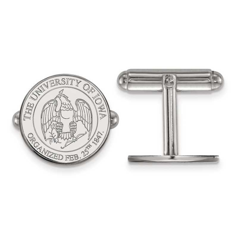 SS081UIA: SS LogoArt University of Iowa Crest Cuff Link