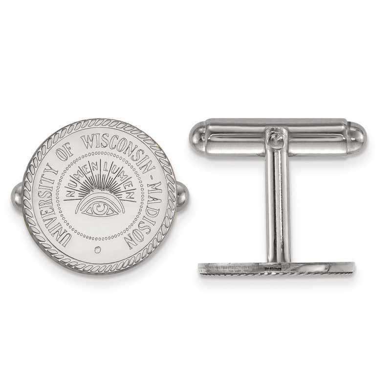 SS082UWI: SS LogoArt University of Wisconsin Crest Cuff Link