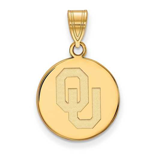 GP036UOK: 925 YGFP Oklahoma Med Disc Pend
