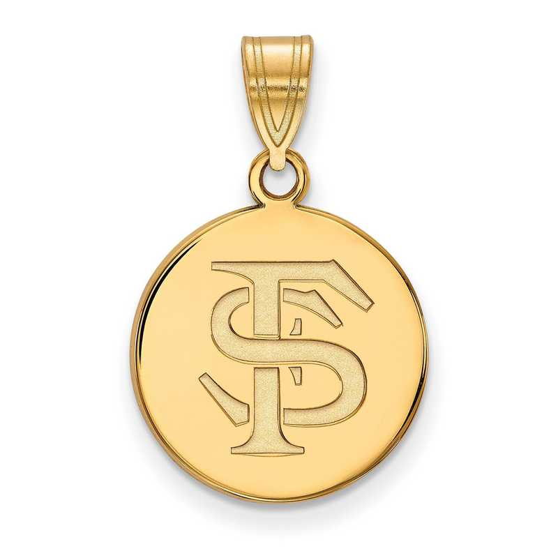 Sterling Silver Rhodium-plated FL State Pendant with chain