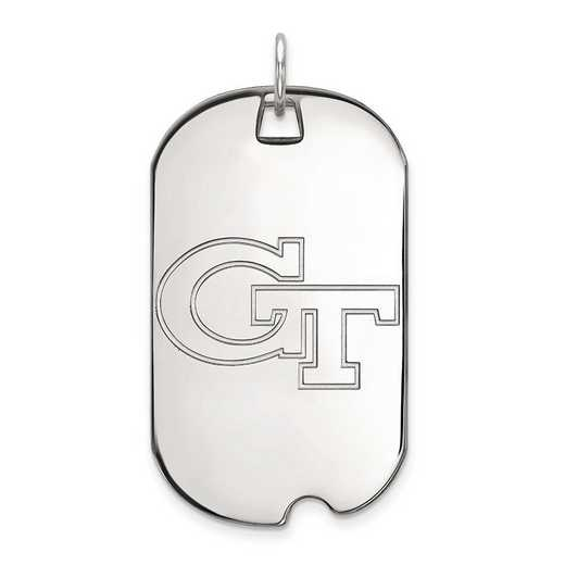 1W022GT: 10kw LogoArt Georgia Institute of Technology Large Dog Tag
