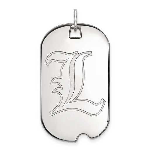 1W022UL: 10kw LogoArt University of Louisville Large Dog Tag