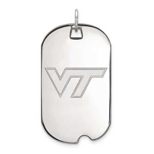 1W022VTE: 10kw LogoArt Virginia Tech Large Dog Tag