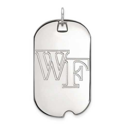 1W022WFU: 10kw LogoArt Wake Forest University Large Dog Tag