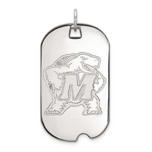 1W023UMD: 10kw LogoArt Maryland Large Dog Tag