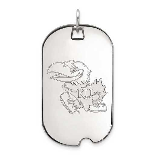 1W024UKS: 10kw LogoArt University of Kansas Large Dog Tag