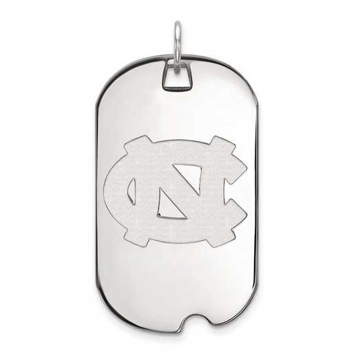1W025UNC: 10kw LogoArt University of North Carolina Large Dog Tag