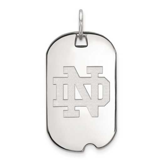 1W026UND: 10kw LogoArt University of Notre Dame Small Dog Tag Pendant