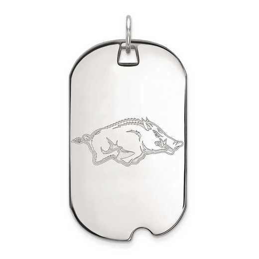 1W027UAR: 10kw LogoArt University of Arkansas Large Dog Tag