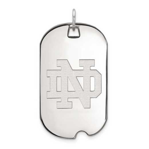 1W027UND: 10kw LogoArt University of Notre Dame Large Dog Tag Pendant