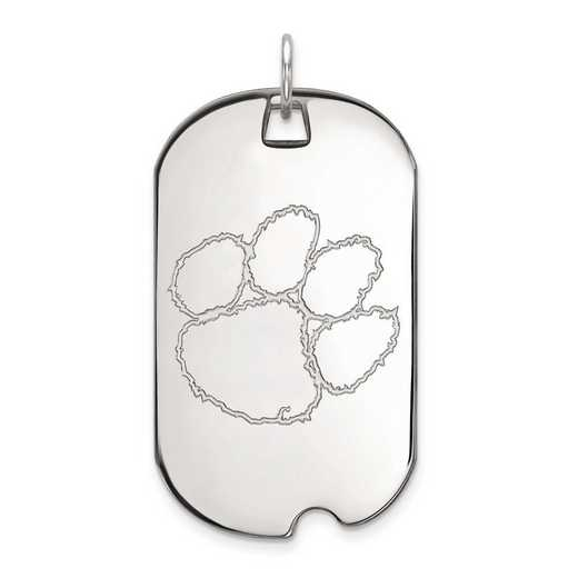 1W028CU: 10kw LogoArt Clemson University Large Dog Tag