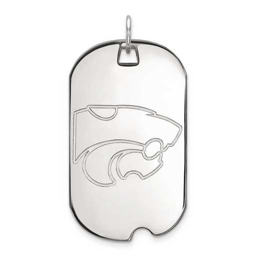 1W028KSU: 10kw LogoArt Kansas State University Large Dog Tag