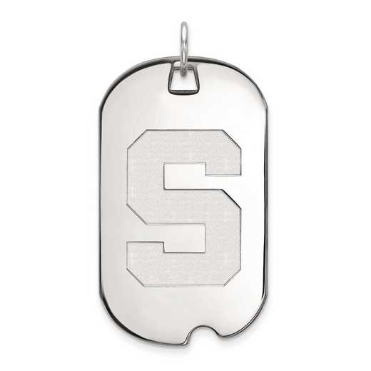 1W028MIS: 10kw LogoArt Michigan State University Large Dog Tag