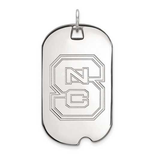 1W028NCS: 10kw LogoArt North Carolina State University Large Dog Tag