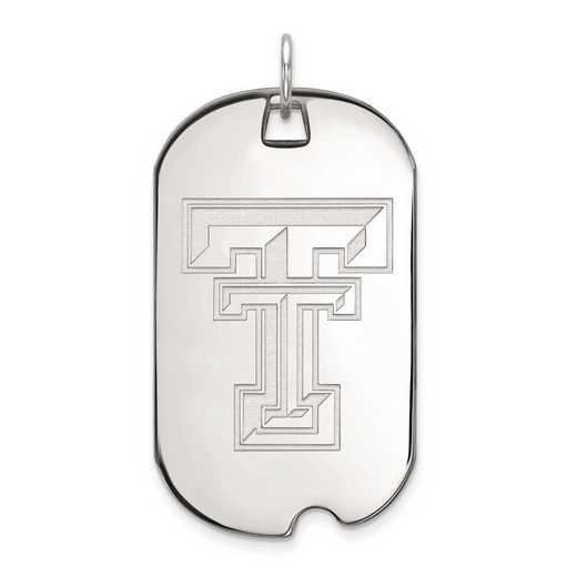1W028TXT: 10kw LogoArt Texas Tech University Large Dog Tag