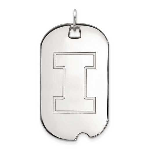 1W028UIL: 10kw LogoArt University of Illinois Large Dog Tag