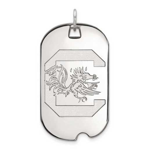1W028USO: 10kw LogoArt University of South Carolina Large Dog Tag
