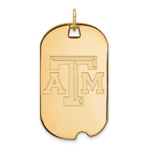 1Y022TAM: 10ky LogoArt Texas A&M University Large Dog Tag
