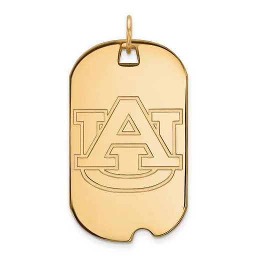 1Y028AU: 10ky LogoArt Auburn University Large Dog Tag