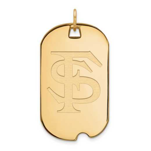 1Y028FSU: 10ky LogoArt Florida State University Large Dog Tag