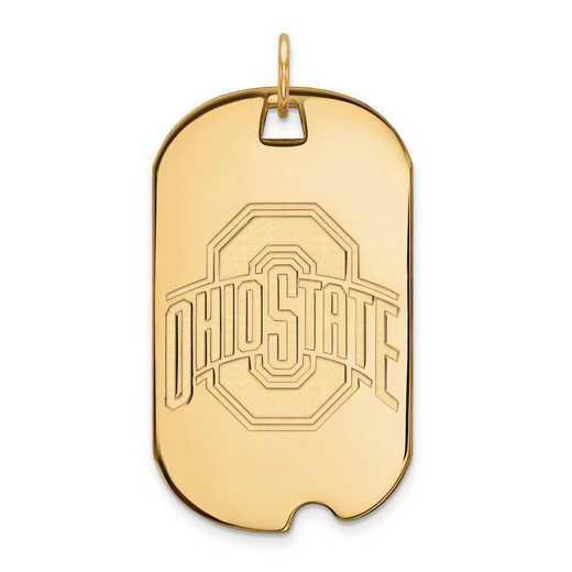 1Y028OSU: 10ky LogoArt Ohio State University Large Dog Tag