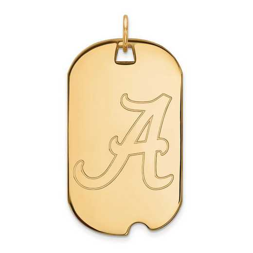 1Y028UAL: 10ky LogoArt University of Alabama Large Dog Tag