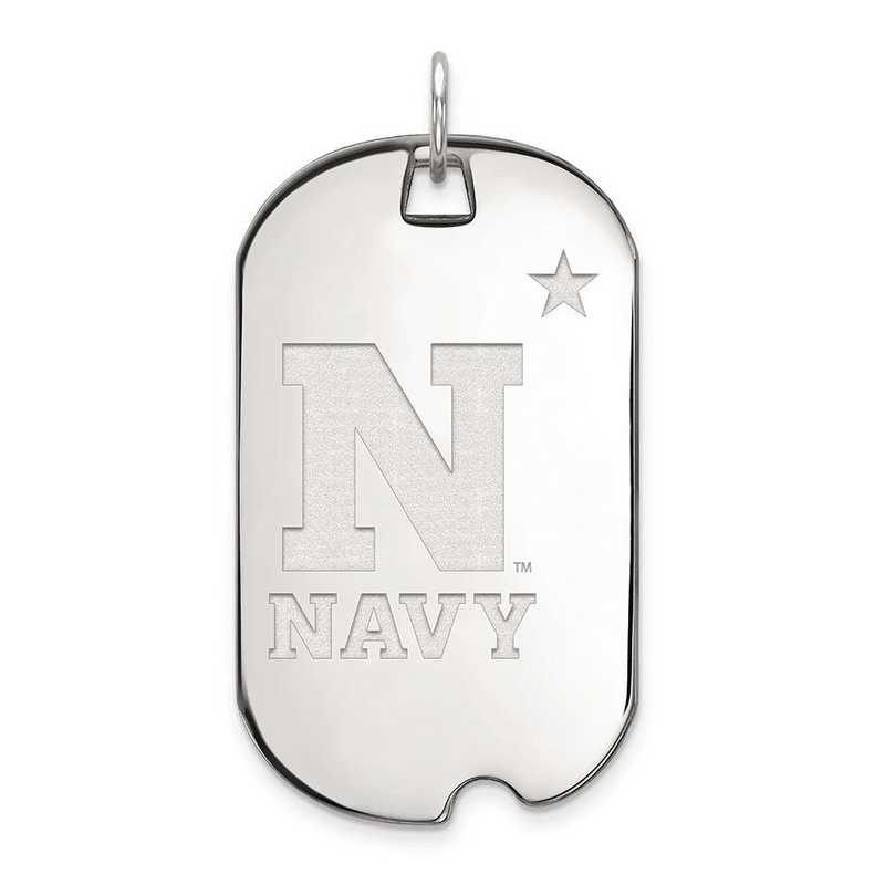 4W008USN: 14kw LogoArt Navy Large Dog Tag