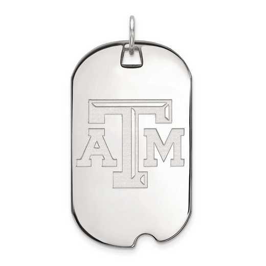 4W022TAM: 14kw LogoArt Texas A&M University Large Dog Tag