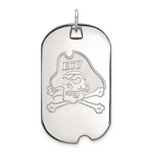4W024ECU: 14kw LogoArt East Carolina University Large Dog Tag