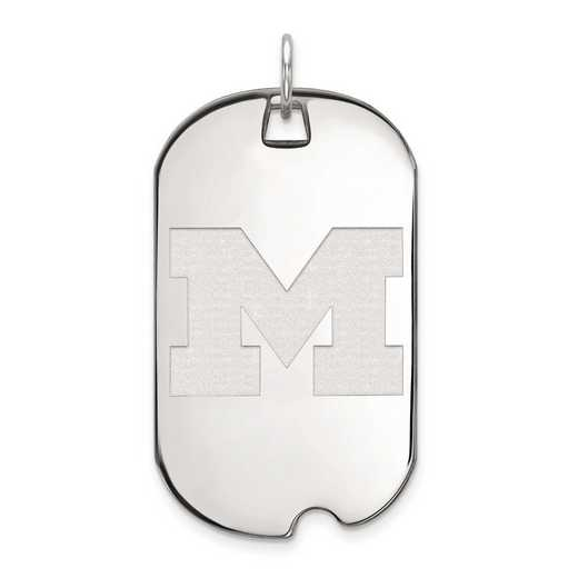 4W027UM: 14kw LogoArt Michigan (Univ Of) Large Dog Tag