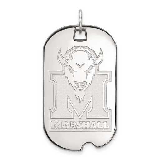 4W028MAU: 14kw LogoArt Marshall University Large Dog Tag