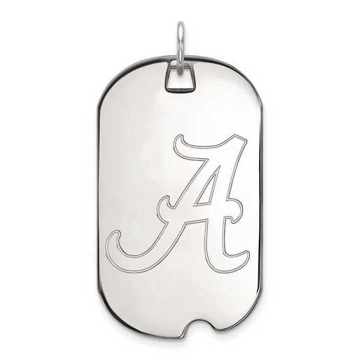 4W028UAL: 14kw LogoArt University of Alabama Large Dog Tag