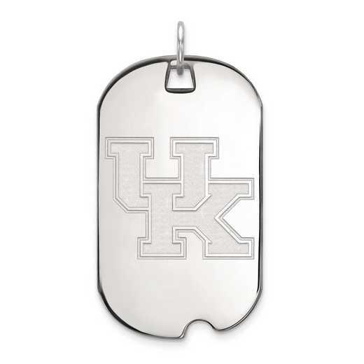 4W028UK: 14kw LogoArt University of Kentucky Large Dog Tag