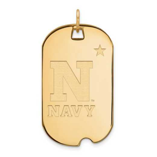 4Y008USN: 14ky LogoArt Navy Large Dog Tag