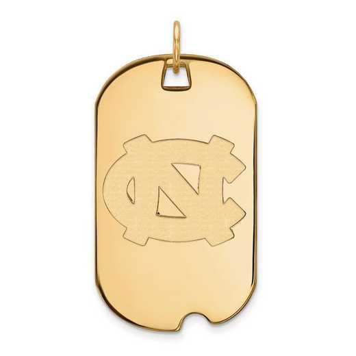 4Y025UNC: 14ky LogoArt University of North Carolina Large Dog Tag