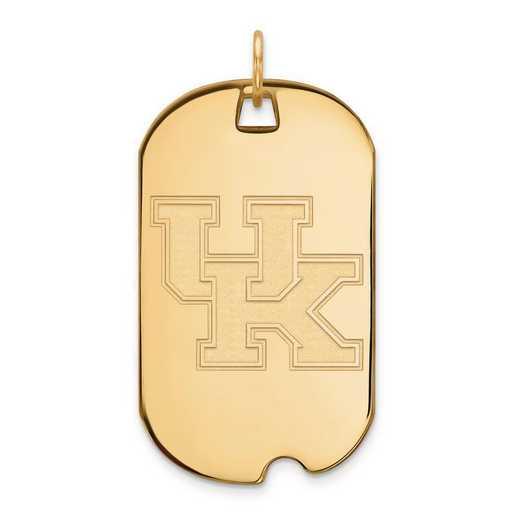 4Y028UK: 14ky LogoArt University of Kentucky Large Dog Tag